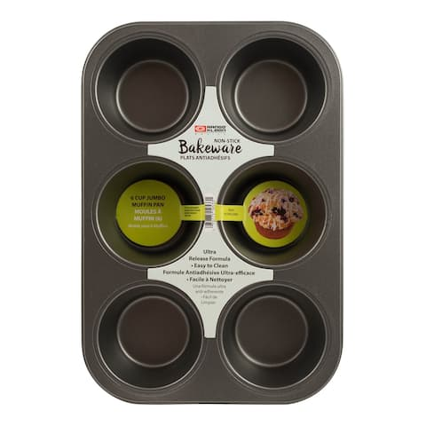 Range Kleen B29JM Non-stick Muffin Pan - 6 Jumbo - Black