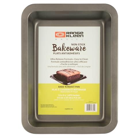 Range Kleen B05BR Non-stick Bake and Roast Pan - 9x13 inch - Black