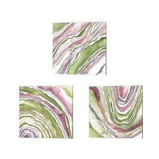 Melissa Wang 'Up Close Agate' Canvas Art (Set of 3)