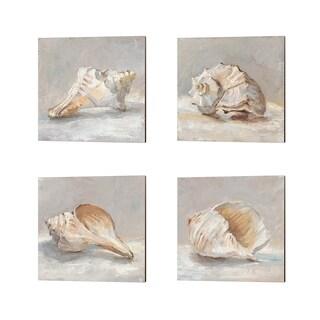 Ethan Harper 'Impressionist Shell Study' Canvas Art (Set of 4)
