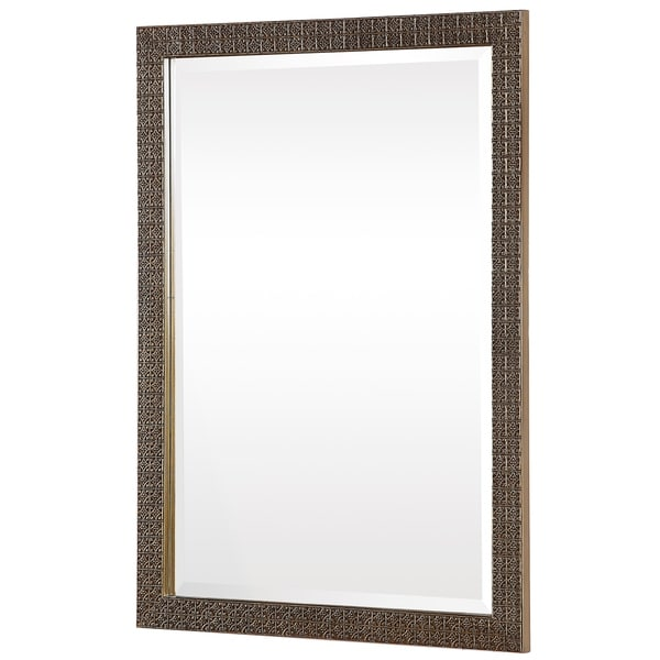 Copper Grove Kraste Antique Goldtone Rectangular Mirror - Antique Gold