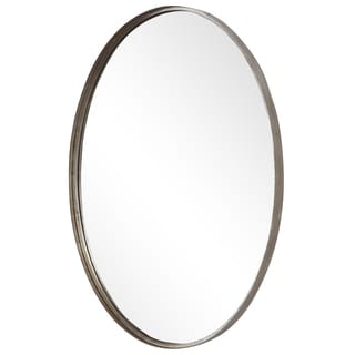 The Gray Barn Wilset Burnished Silver Oval Mirror - 24x35x2