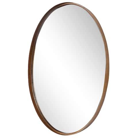 The Gray Barn Wilset Gold Oval Mirror