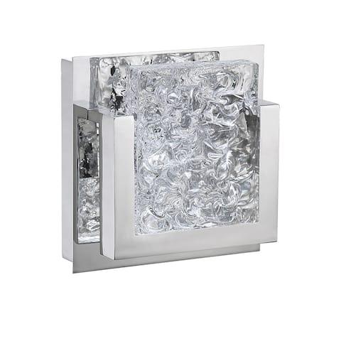 ICE-LAVA 1-light 9 Watt Chrome Integrated LED Bath Light