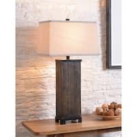 Finn Wood Grain 31 Inch Table Lamp
