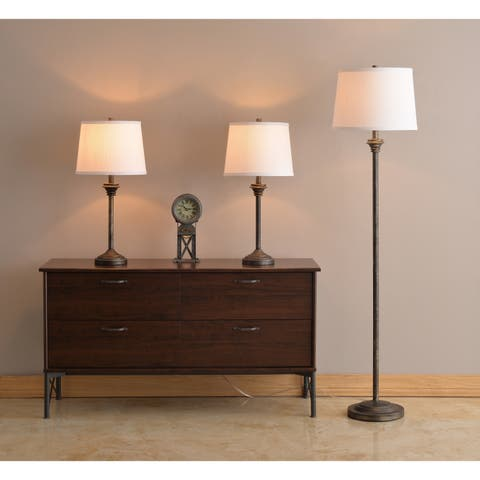 Denver Vintage Metal 59 Inch 3-Pack Lamp Set