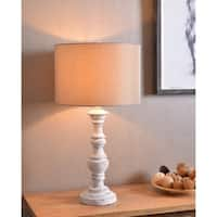 Isabel Chalk White 28 Inch Table Lamp