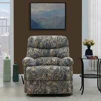 Copper Grove Bilisht Paisley Velvet Wall Hugger Recliner Chair