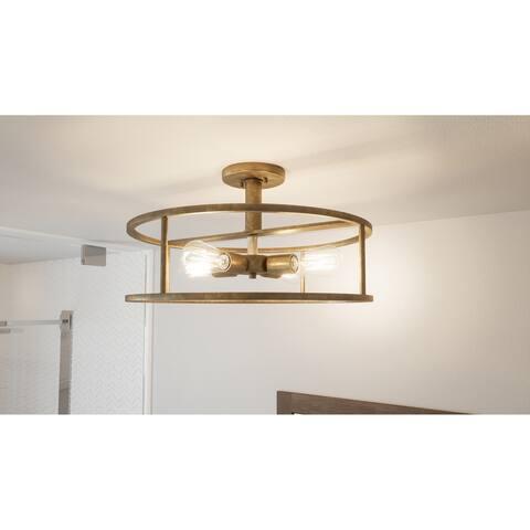 Carson Carrington Hackbol Brass 4-light Semi-flush Mount