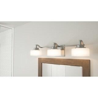Parkin Brushed Nickel 3-light Bath Light