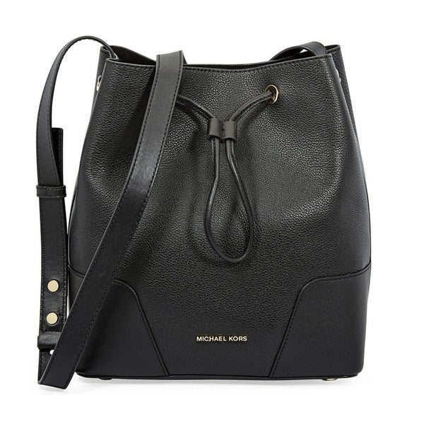 e9ab50a185b350 Shop MICHAEL Michael Kors Cary Medium Leather Bucket Bag - On Sale ...