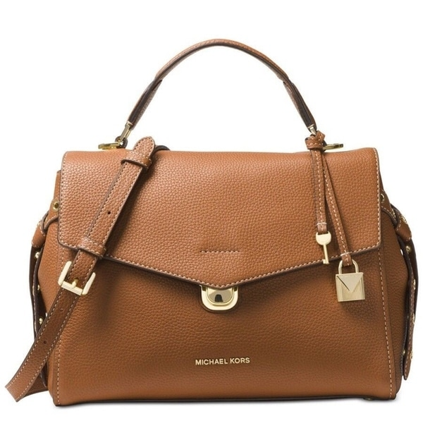 5c55c541e Shop Michael Kors Bristol Studded Leather Satchel - Acorn - On Sale - Free  Shipping Today - Overstock - 25601271
