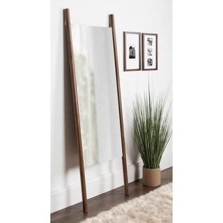 Kate and Laurel Findlay Brown Wood Wall Leaner Mirror