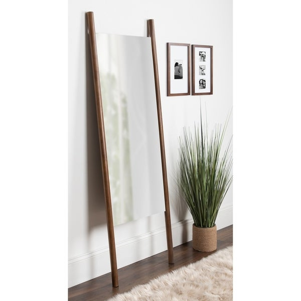 Kate and Laurel Findlay Brown Wood Wall Leaner Mirror. Opens flyout.