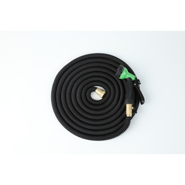Expandable Water Hose with Water Spray Nozzle Attachment