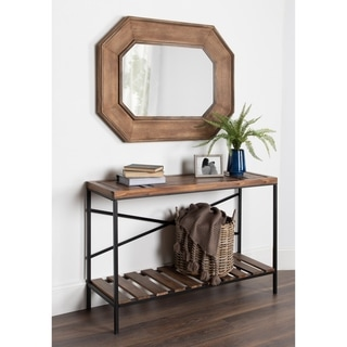 Link to Kate and Laurel Hadrian Wood Octagon Wall Mirror - Brown - 31x41 Similar Items in Decorative Accessories
