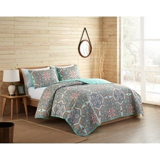 VCNY Home Yara Reversible Medallion Quilt Set - Multi