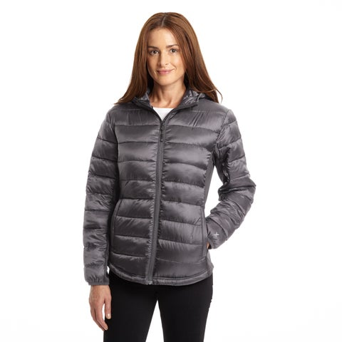Excelled Women's Hybrid Hooded Puffer