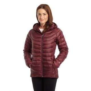 Excelled Women's Polyester Featherweight Hooded Puffer