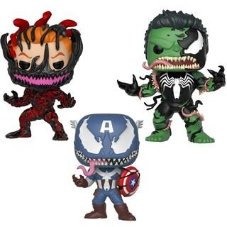 Funko POP! Marvel: Marvel Venom Collectors Set 4 - Vemon Captain America, Venom Hulk, Carnage Cletus Kasady