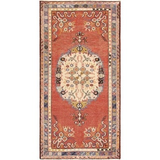 Pasargad Turkish Vintage Anatolian Hand-Knotted Wool Rug - 3' x 6'