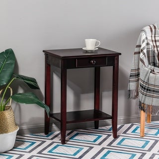 Copper Grove Quevilly Espresso 1-drawer End Table