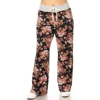 Women's Plus Size Pattern Print Relaxed Wide Leg Pants