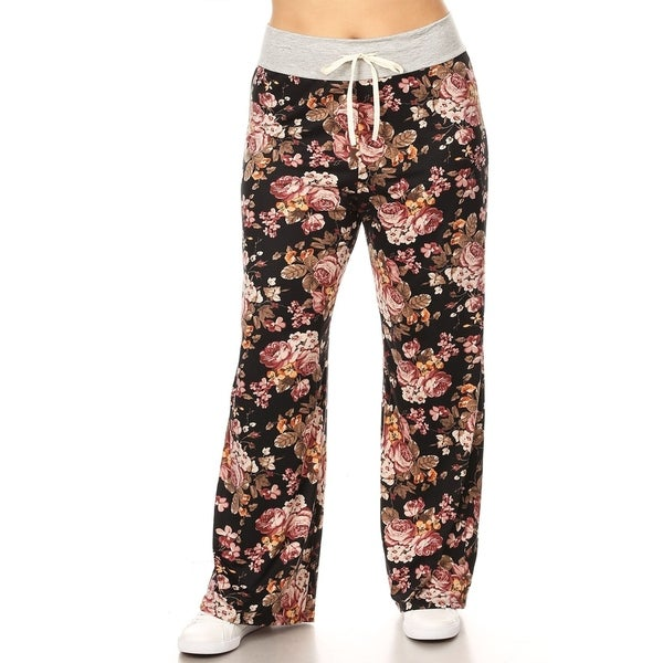 9322823a92d Shop Women s Plus Size Pattern Print Relaxed Wide Leg Pants - On ...
