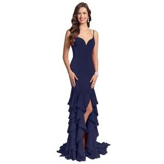 Terani Couture Sweetheart Sleeveless Ruffled Skirt Long Dress