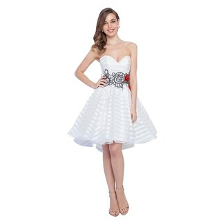 Terani Couture Sleeveless Sweetheart Embroidered Short Ball Gown