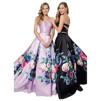 Terani Couture Two-Piece Sweetheart Printed Ball Gown