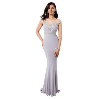 Terani Couture Sweetheart Neck Beaded Bodice Long Dress