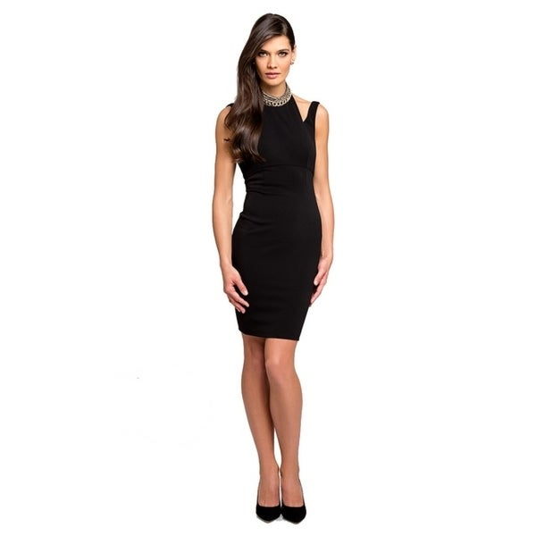 Terani Couture Haltered Neck Backless Short Dress