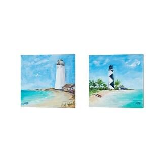 Julie DeRice 'The Lighthouses' Canvas Art (Set of 2)
