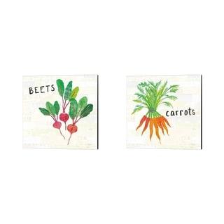 Melissa Averinos 'Kitchen Garden Cream' Canvas Art (Set of 2)