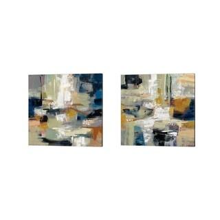 Silvia Vassileva 'Full Moon' Canvas Art (Set of 2)