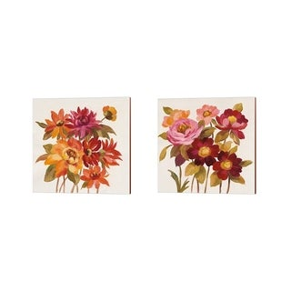 Silvia Vassileva 'English Garden' Canvas Art (Set of 2)