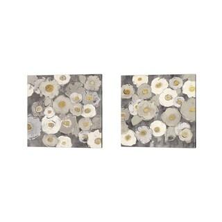Silvia Vassileva 'Bohemian Bouquet Neutral' Canvas Art (Set of 2)