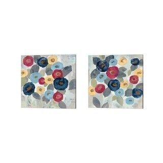 Silvia Vassileva 'Winter Flowers' Canvas Art (Set of 2)