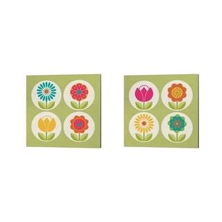 Tammy Apple 'Groovy Blooms' Canvas Art (Set of 2)