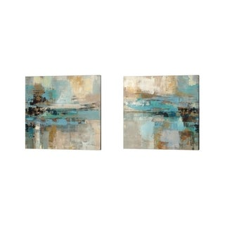 Silvia Vassileva 'Morning Fjord Square' Canvas Art (Set of 2)