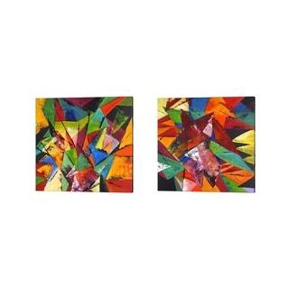 Porch & Den Jasmine Claudia 'Abstract Geo' Canvas Art (Set of 2)