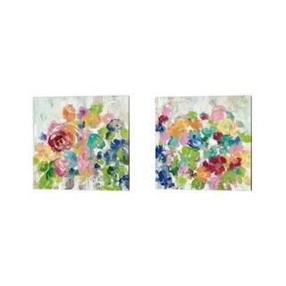 Silvia Vassileva 'Hydrangea Bouquet' Canvas Art (Set of 2)