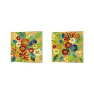 Silvia Vassileva 'Flower Market' Canvas Art (Set of 2)