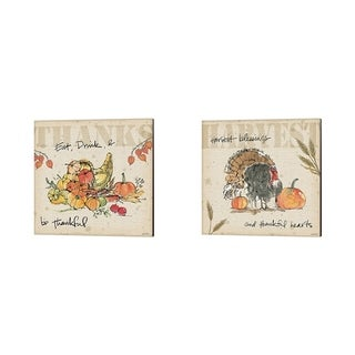 Anne Tavoletti 'Be Thankful' Canvas Art (Set of 2)