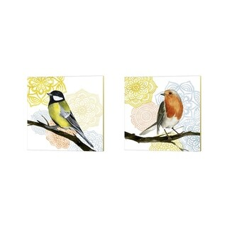 Grace Popp 'Mandala Bird' Canvas Art (Set of 2)