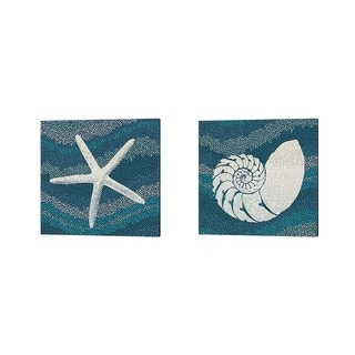 Wild Apple Portfolio 'Sea Glass' Canvas Art (Set of 2)
