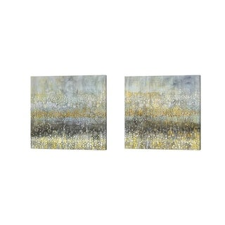 Danhui Nai 'Rain Abstract' Canvas Art (Set of 2)