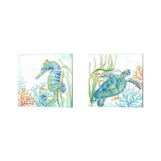 Cynthia Coulter 'Sea Life Serenade' Canvas Art (Set of 2)