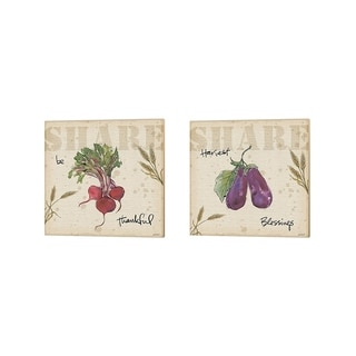 Anne Tavoletti 'Farmers Feast Harvest A' Canvas Art (Set of 2)